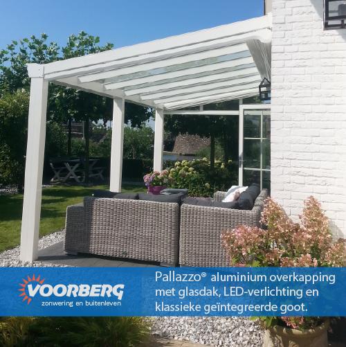Pallazzo veranda met Weinor Sottezza onderzonwering, Sunflex glaswand en Topdeck Buitenvloer.