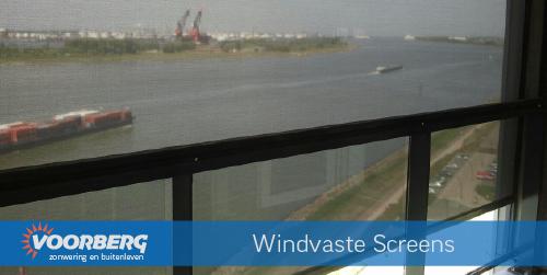 Wind vaste screens Waterweg toren complex
