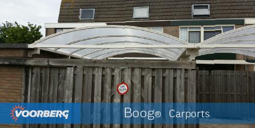 Foto aluminium carport voorzien van gehard veiligheidsglas