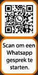 Scan de QR-code voor een Whatsapp gesprek.